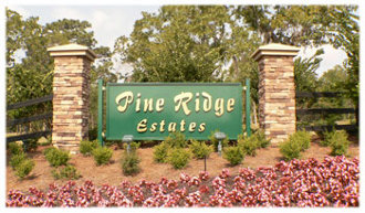 Pine Ridge Estates Sign