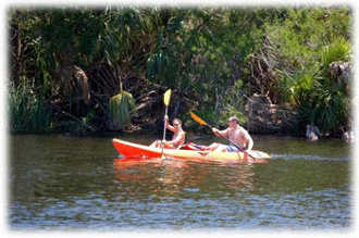 paddleing on the Withlacoochee River